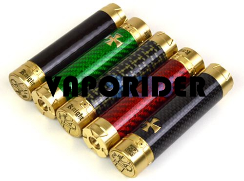 Knight 18650 Carbon Fiber + Brass Mechanical Mod Clone