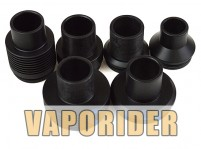 22mm|28mm Chuff Enuff Drip Top For Tobh Atty V2 RDA (BLK)