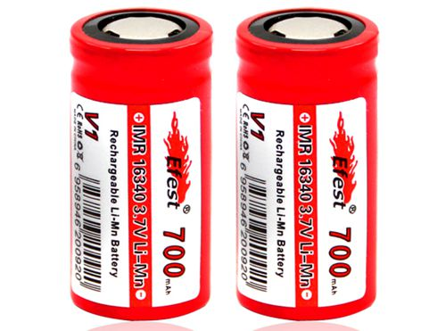 Efest IMR 16340 3.7V 700mAh Rechargeable Flat Top Battery