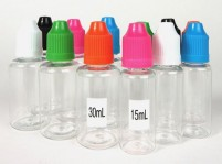 30ml and 15ml clear dropper bottles for e-liquid and e-juice