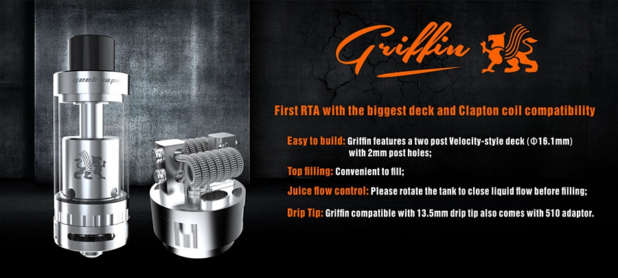 Authentic Griffin 3.5mL RTA by Geek Vape