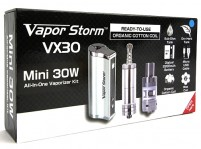 Vapor Storm Mini 30W E-Liquid/Wax/Dry Herb All-in-One Vaporizer Kit