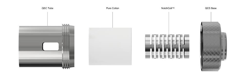 Joyetech QCS 0.25Ω Coils for Cubis/Cubis Pro/eGo AIO/Cuboid Mini (5pk)