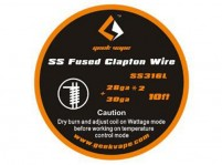 10ft SS316L 28GAx2+30GA Fused Clapton Wire by Geek Vape
