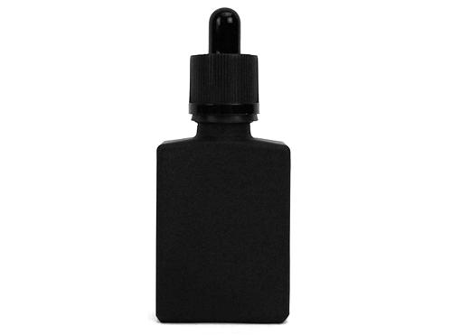 30mL Black Frosted Glass Dropper Bottle