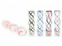 "1.5"" Ribbon Print Glass Drip Tip"
