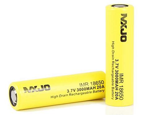 MXJO IMR 18650 3000mAh 20A 3.7V High Drain Flat Top Battery
