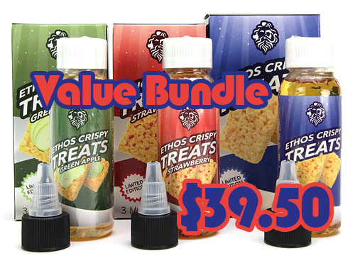 Ethos Vapors Crispy Treats 3x60mL Value Bundle