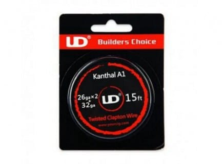 15ft UD Kanthal A1 Twisted Clapton Wire 26GA x 2 + 32GA