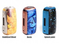 Sigelei Swallowtail 75A 77W TC Mod (Stabilized Wood/Resin/Splash Paint)
