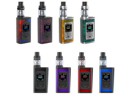 SMOK Majesty 225W TC & TFV8 X-Baby Starter Kit - Resin Edition & Carbon Fiber Edition