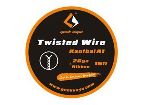15ft Kanthal A1 26GA+Ribbon Twisted Wire by Geek Vape