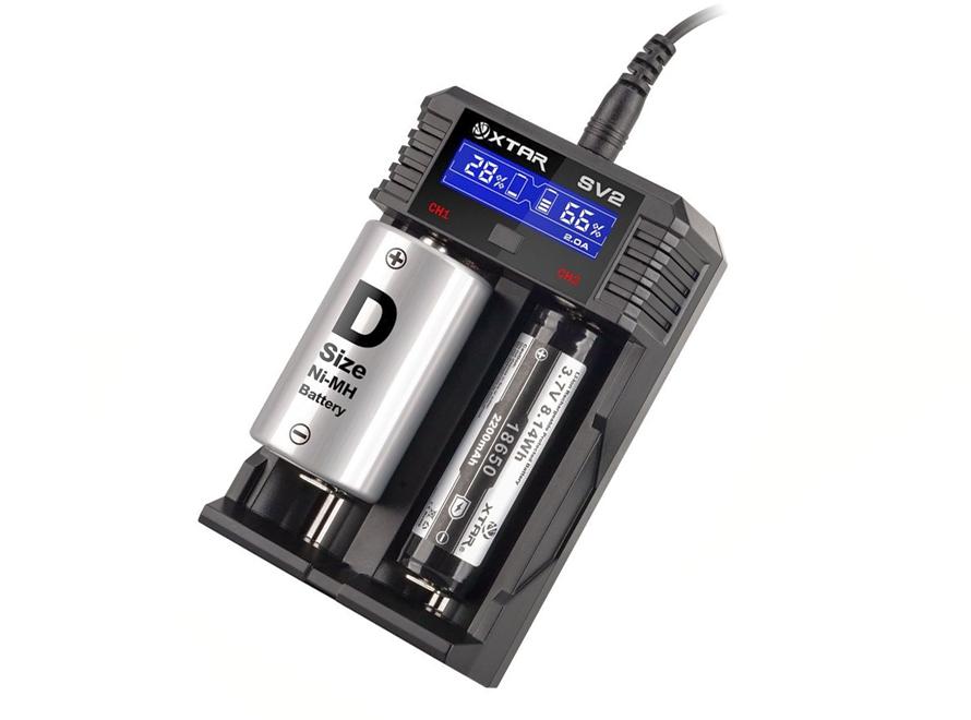XTAR ROCKET SV2 LCD Screen Fast-Charging Li-ion/Ni-MH Battery Charger