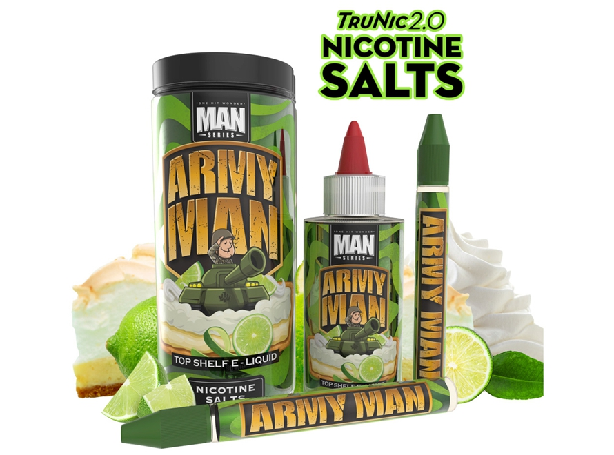 One Hit Wonder Man Series TruNic 2.0 Nicotine Salts 100mL E-Liquid - Army Man